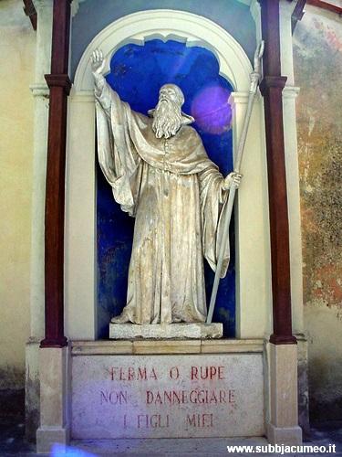 Ferma o rupe, non danneggiare i figli miei - San Benedetto Subiaco (RM)