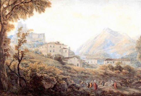 SUBIACO- Attribuito a Joseph Augustus Knip (Olanda 1777–1847)